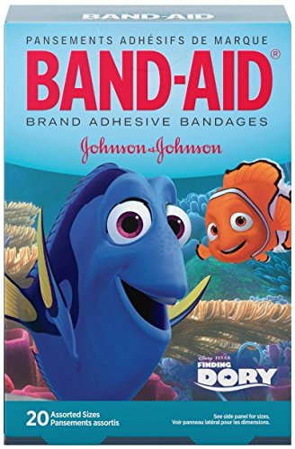 Band-Aid Adhesive Bandanges, Disney's Finding Dory, Assorted, 20 Count -