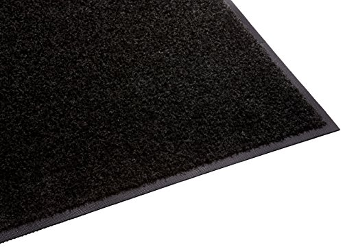 Guardian Platinum Series Indoor Wiper Floor Mat, Rubber with Nylon Carpet, 2'x5', Black (Renewed)