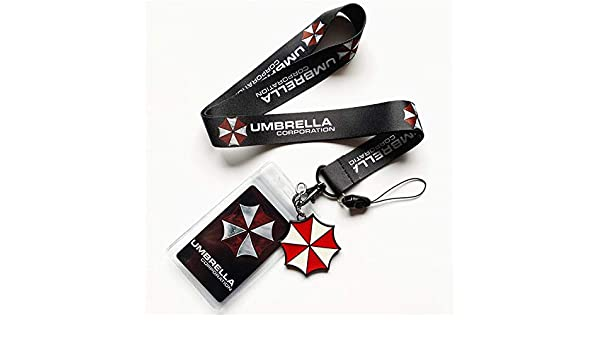 Resident Evil Umbrella Lanyard Neck Strap Cell Phone Camera Rope Keychain Card