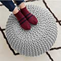 ComforHome Indoor/Outdoor Hand Knitted Style Pouf Comfortable Furniture Set