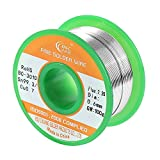 Tools & Hardware : WYCTIN Lead Free Solder Wire Sn99 Ag0.3 Cu0.7 with Rosin Core for Electrical Soldering 0.22lbs (0.6 mm)