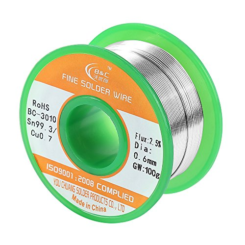 Best Deals! WYCTIN Lead Free Solder Wire Sn99 Ag0.3 Cu0.7 with Rosin Core for Electrical Soldering 0...