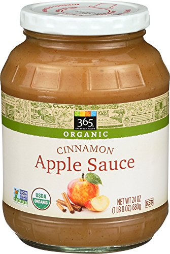- 365 Everyday Value, Organic Cinnamon Apple Sauce, 24 oz
