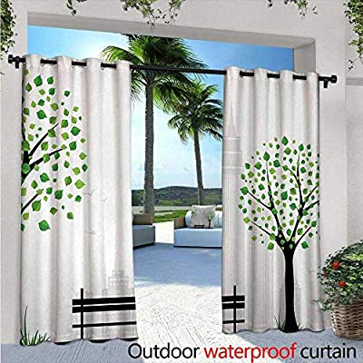 Amazon Com Leaf Outdoor Privacy Curtain For Pergola W72 X L84