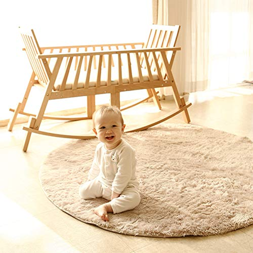 Y&N WOOD Baby Wood Rocking Cradle Indoor Multifuntional Gliding Bassinet & Rocking Chairs for Children & Adults