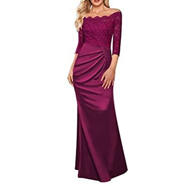 Sexy Lace Dresses for Weddings Purple