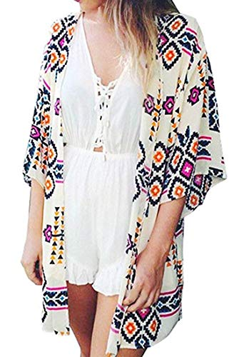 Finoceans Womens Swimwear Coverups Beach Cover Ups Geometric Patterns M