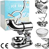 WYZworks Commercial Heavy Duty 440lb/h Sno Snow Cone Ice Shaver Shaved Icee ...