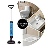 Samshow Toilet Plunger, Powerful Manual Multi Drain