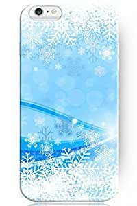"""ZLXUSA(TM) New Personalized Hard Blue Snowflake for Apple 6 Plus (5.5"""") Christmas for iPhone Case"""