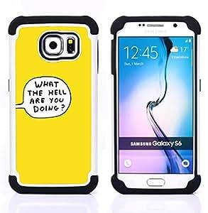 """Pulsar ( Lo La burbuja del pensamiento historieta del infierno amarillo"""" ) Samsung Galaxy S6 / SM-G920 SM-G920 híbrida Heavy Duty Impact pesado deber de protección a los choques caso Carcasa de parachoques [Ne"""