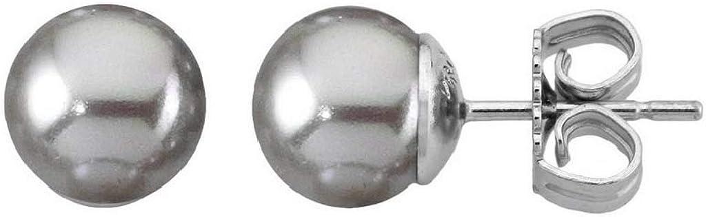 Majorica 00326.06.2.000.701.1 Pendientes Mujer Plata Perla Nuage Tamaño 10 mm