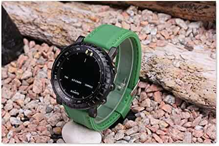 For SUUNTO CORE 24MM Green Waterproof Silicone Strap Watch Band+Adapters +Buckle