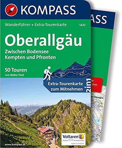 Oberallgäu, Zwischen Bodensee, Kempten und Pfronten: Wanderführer mit Extra-Tourenkarte 1:55.000, 50 Touren, GPX-Daten zum Download. (KOMPASS-Wanderführer, Band 5420)