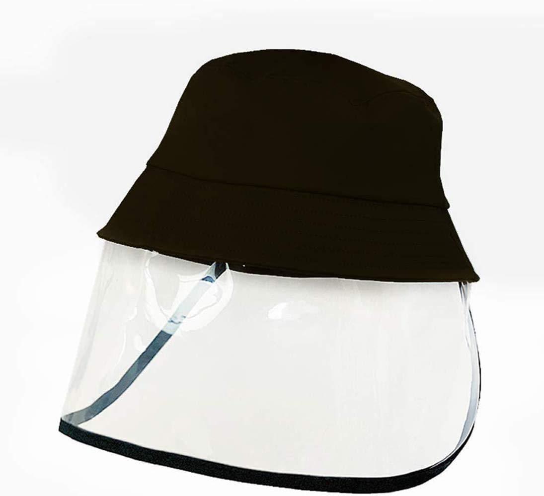 Gorra de Visera para Cara de Seguridad de Protecci/ón Protecci/ón de Ojos Y Cabeza sombrero de Pescador Pantalla de Protecci/ón de Cara de PVC Visera Protectora para la Cara