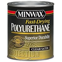 Minwax 230104444 Fast Drying Polyurethane Satin, 1/2 pint