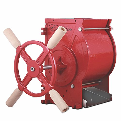 Excalibur EMFC Apple and Fruit Crusher Made of Heavy Duty Cast Iron with Stainless Steel Chute and Blades, Red (Discontinued by Manufacturer) (Cider Press)