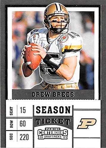 new products 17329 dfdd7 Drew Brees football card (Purdue Boilermakers NCAA College ...