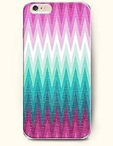 SevenArc Apple iPhone 6 Case 4.7' - Aztec Indian Chevron Zigzag Pattern ( Blue And Pink Gradient Chevron Print )
