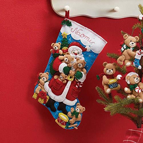 (Bucilla Santa & Teddy Stocking Kit)