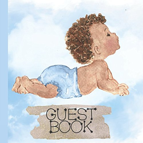 Books : Guest Book: Beautiful African American Baby Shower Guest Book Includes Gift Tracker and Picture Pages to Make Your African American Boy Baby Shower Even More Memorable