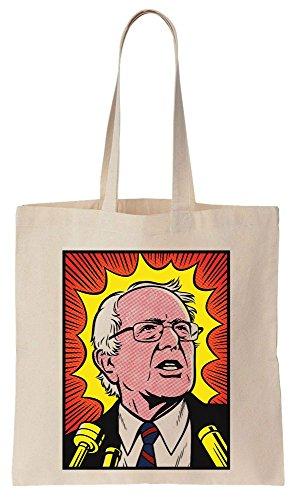 Bernie Sanders Comic Book Style Art Sacchetto di cotone tela di canapa