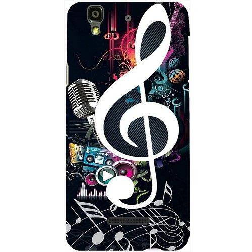 Casotec Music Design Hard Back Case Cover for Micromax Yu Yureka AQ5510 / AO5510