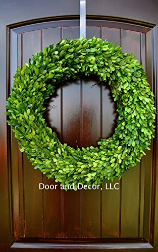 Round Real Preserved Boxwood Wreath for Home Decor