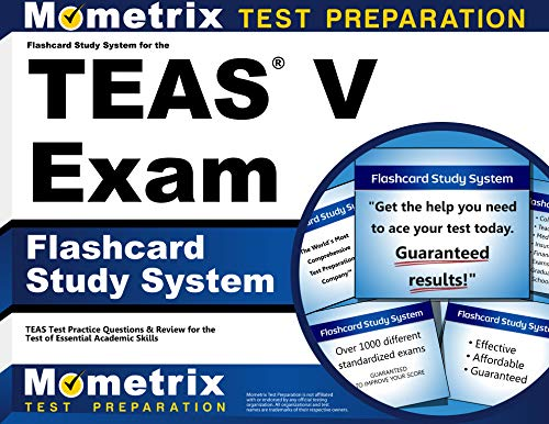 Flashcard Study System for the TEAS V Exam: TEAS Test Practice Questions & Review for the Test of Essential Academic Skills (Cards) (Nursing Teas Flash Cards)