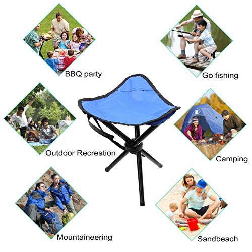 Portable Chair Folding Stool Lightweight for Camping, Fishing, Games etc. (Red)