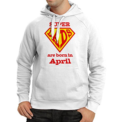 lepni.me Hoodie Super Dads Are Born In April Anniversary Gifts him (XXX-Large White Multi Color)