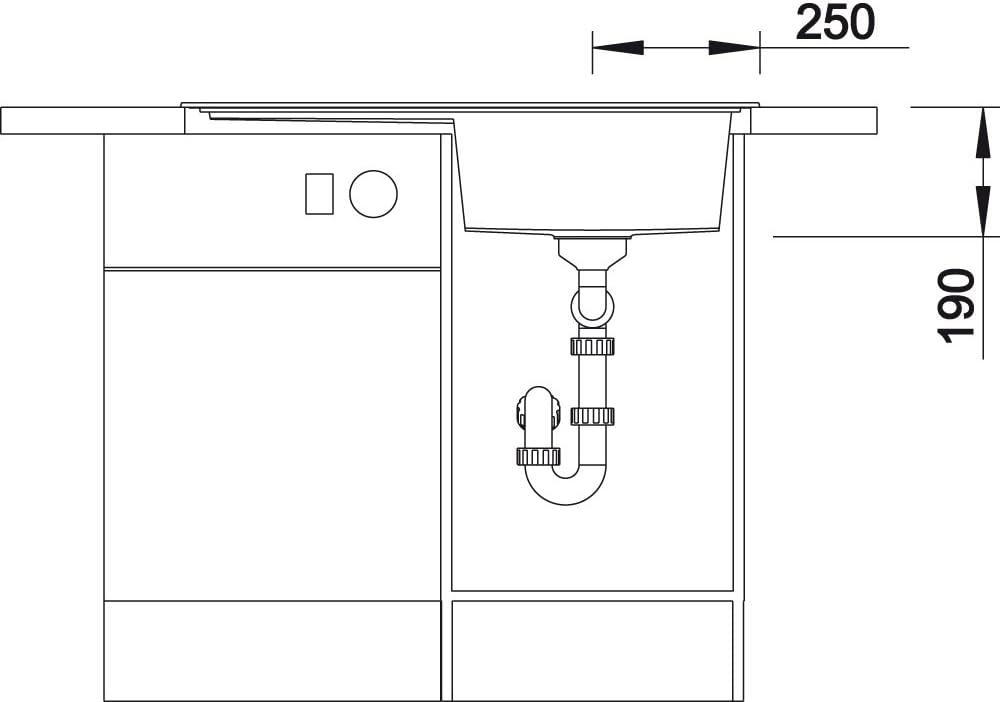 Blanco DE COUPE PLANCHE Zenar en verre de sécurité 224629