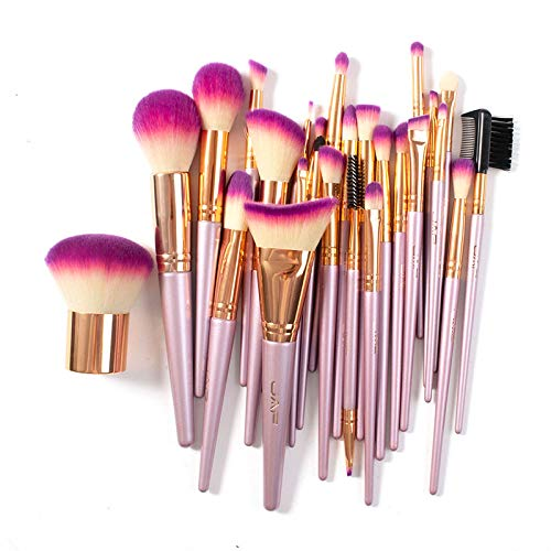 Makeup Brush Set Professional, JAF 26pcs Kabuki Face Contour Brush Set Pink Complete Vegan Brush Kit Full Face Makeup…