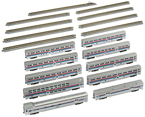 Kato USA Model Train Products Amtrak El Capitan Car Set with Display Unitrack, 10-Piece