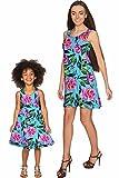 PINEAPPLE CLOTHING Peony Splash Sanibel Empire Waist Floral Mother Daughter Dress 4 X-Large
