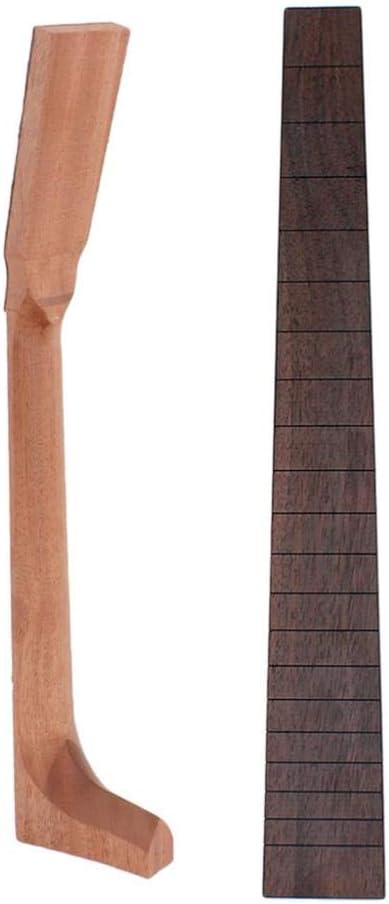 Shiwaki Mástil De Guitarra Acústica Caoba + Palo De Rosa 20 Trastes Diapasón Para Guitarra