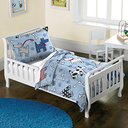dream FACTORY Dog Comforter Set, Toddler, Blue