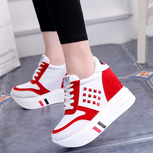 of sponge shoes red cake plateau shoes women's the shoes sport winter plus new wild thick hosting 35 velvet HGTYU Autumn qYfwSA