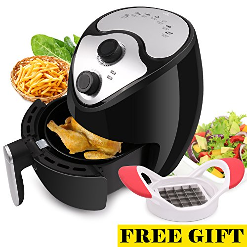 Air Fryer, Warmhoming Digital Hot Airfryer Classic with 7 Cook Presets For Healthy Oil Free Cooking (Black)