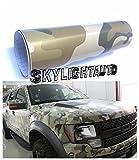 auto wrap camo - 10ft X 5ft Deset Camouflage Vinyl Sheets Vinyl Film Wrap Sheet With Air Release Pockets Bubble Free