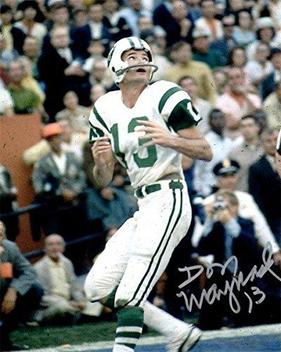 - Signed Don Maynard 8x10 Photo New York Jets - Certified Autograph