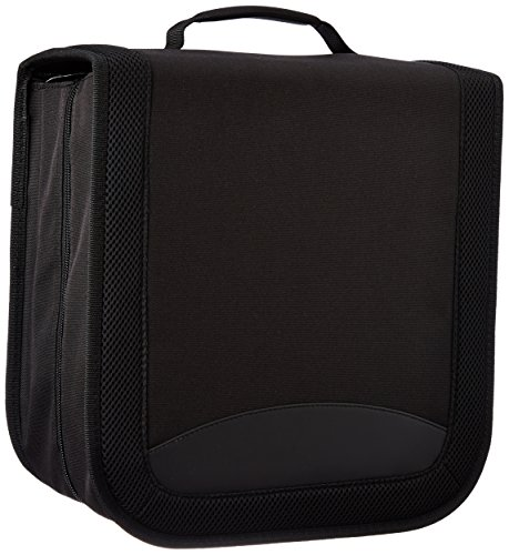 AmazonBasics Nylon CD/DVD Binder Case (400 Disc Holder Storage Capacity) (Cd Carrying Cases)