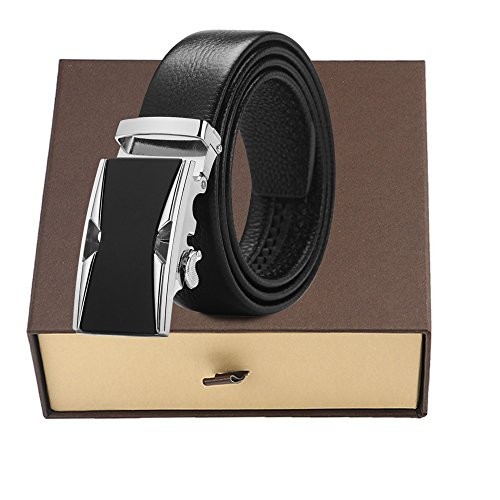 Men's belt, Iztor Genuine Leather belt with Buckle and Enclosed in Gift Box by iztor (Image #6)
