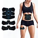 Abdominal Muscle Toner ABS Belt Workout Equipment Portable Fit Toning Belt Wireless Muscle Exercise for Home/Office Support Men&Women