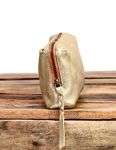 Doré Marius Paul vintage ADÈLE cuir en Pochette fleur vachette style pleine de 7q4a6n4