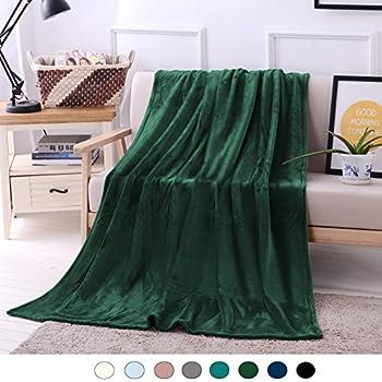 Amazon Napa Super Soft Plush Fleece Throw TV Blanket Unique Forest Green Throw Blanket