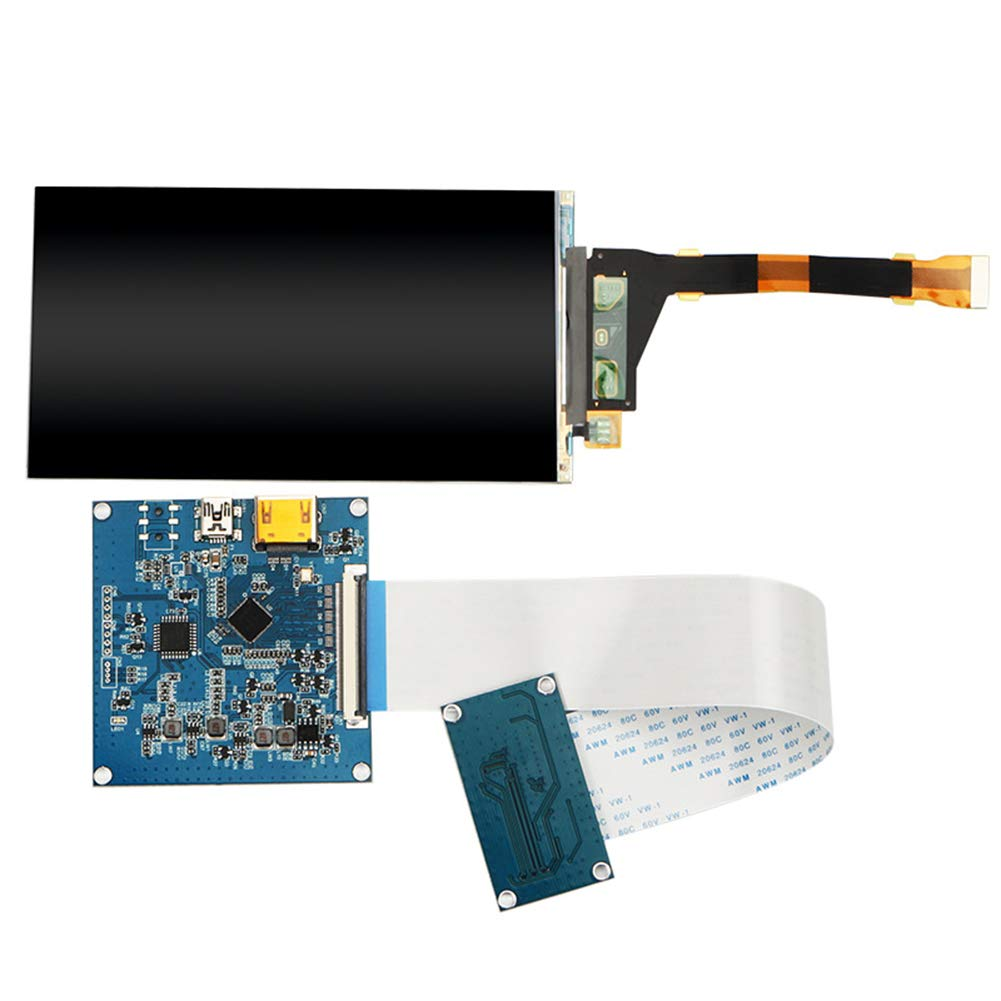 ETbotu 5.5 inch 2560x1440 2K LCD Screen HDMI to MIPI VR Display Driver Controller for 3D SLA Printer LS055R1SX04