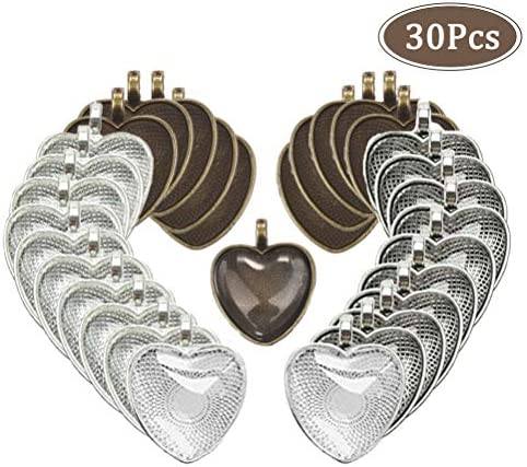 Bezels Silver Pendant Cabochon Jewelry product image