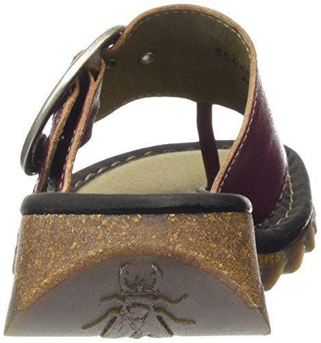 Fly London Women's Trim Wedge Sandals Magenta/Black RXqOZ6PQ