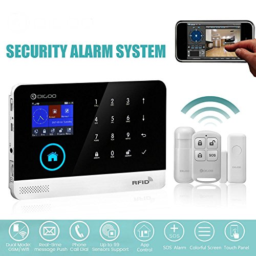 DG-HOSA WIFI&GSM&SMS DIY Wireless Smart Home Security Alarm Systems Kits